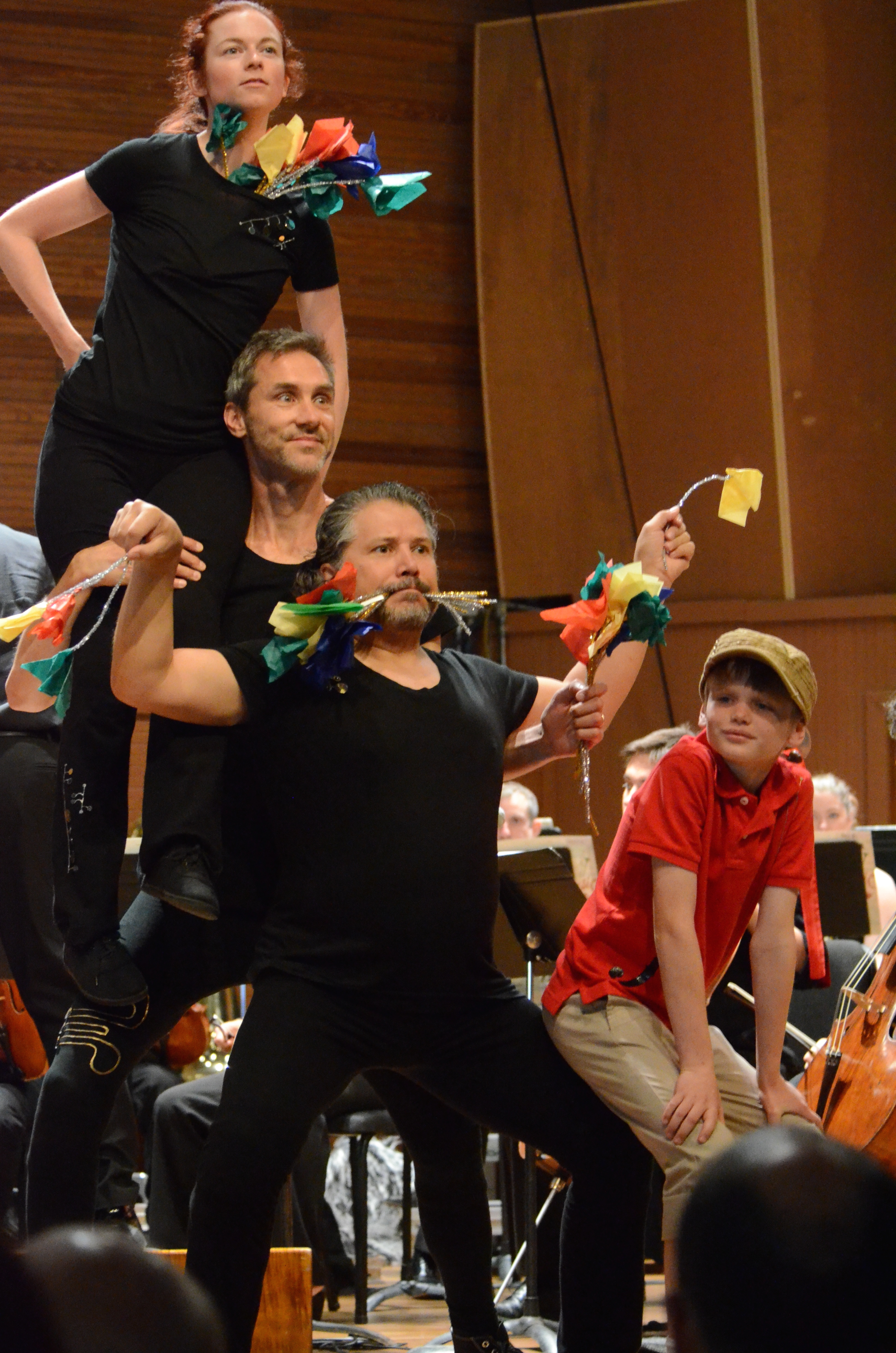 Mackenzie Sherburne, Jim Walker and Lorenzo Gonzales in Local's PETER AND THE WOLF (in collaboration with Colorado Music Festival), Summer 2015 at Chautauqua Auditorium--  photo by Michael Ensminger.JPG