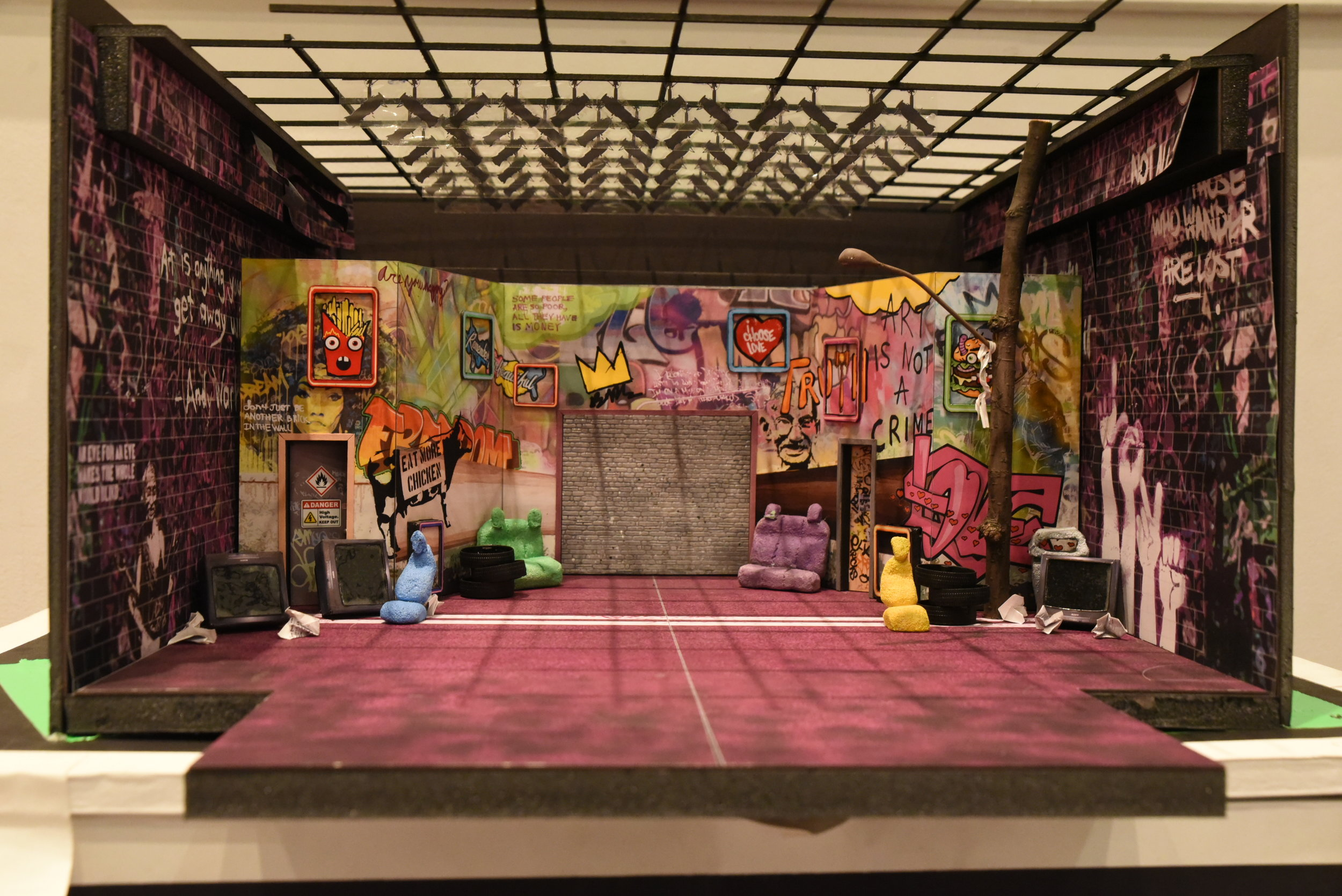 Set design by Nate Bertone