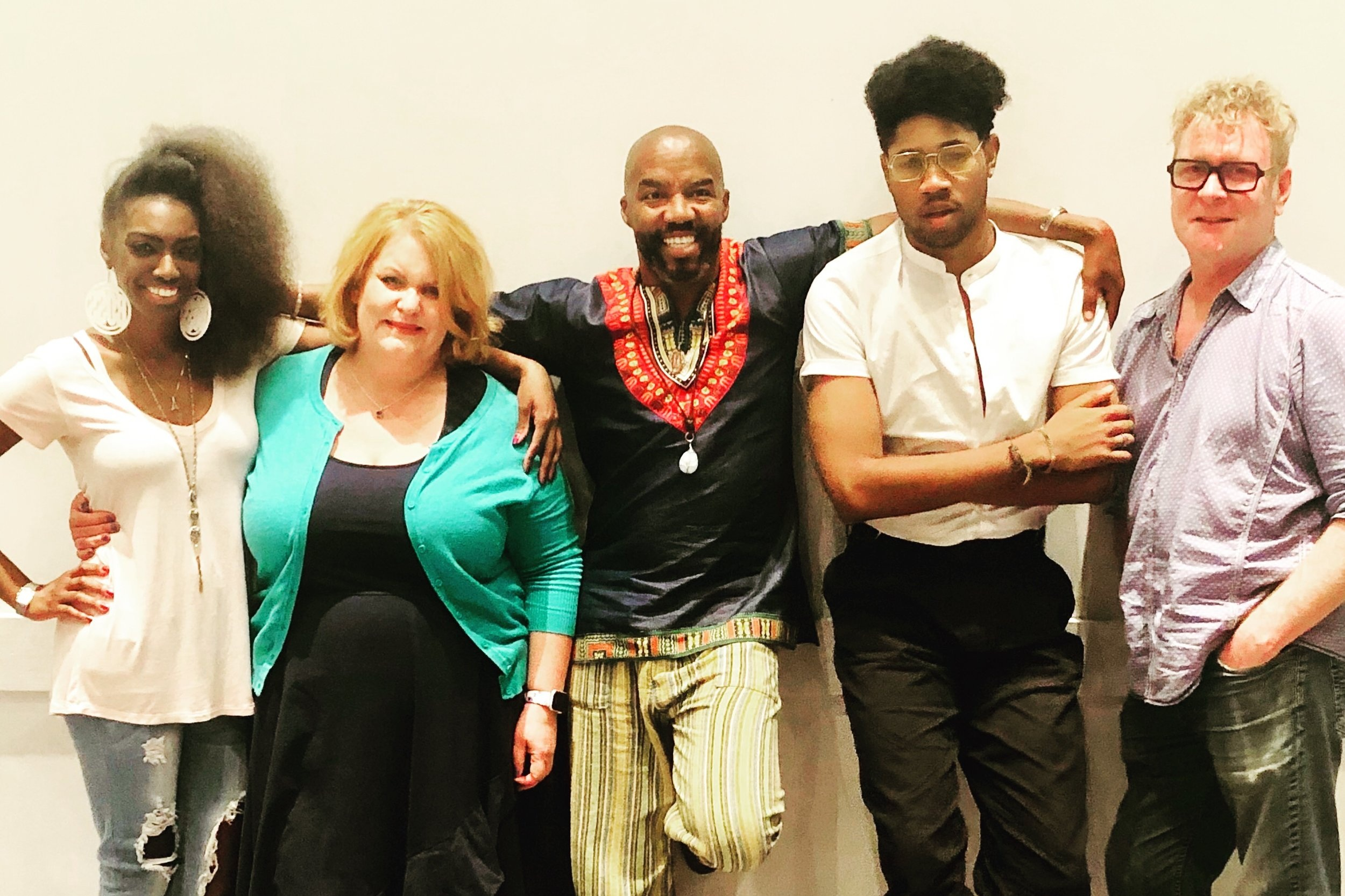 Ilasiea Gray, performer; Emma Messenger, performer; Rodney Hicks, playwright/director; Saxton Jay Walker, performer; Gary Norman, performer