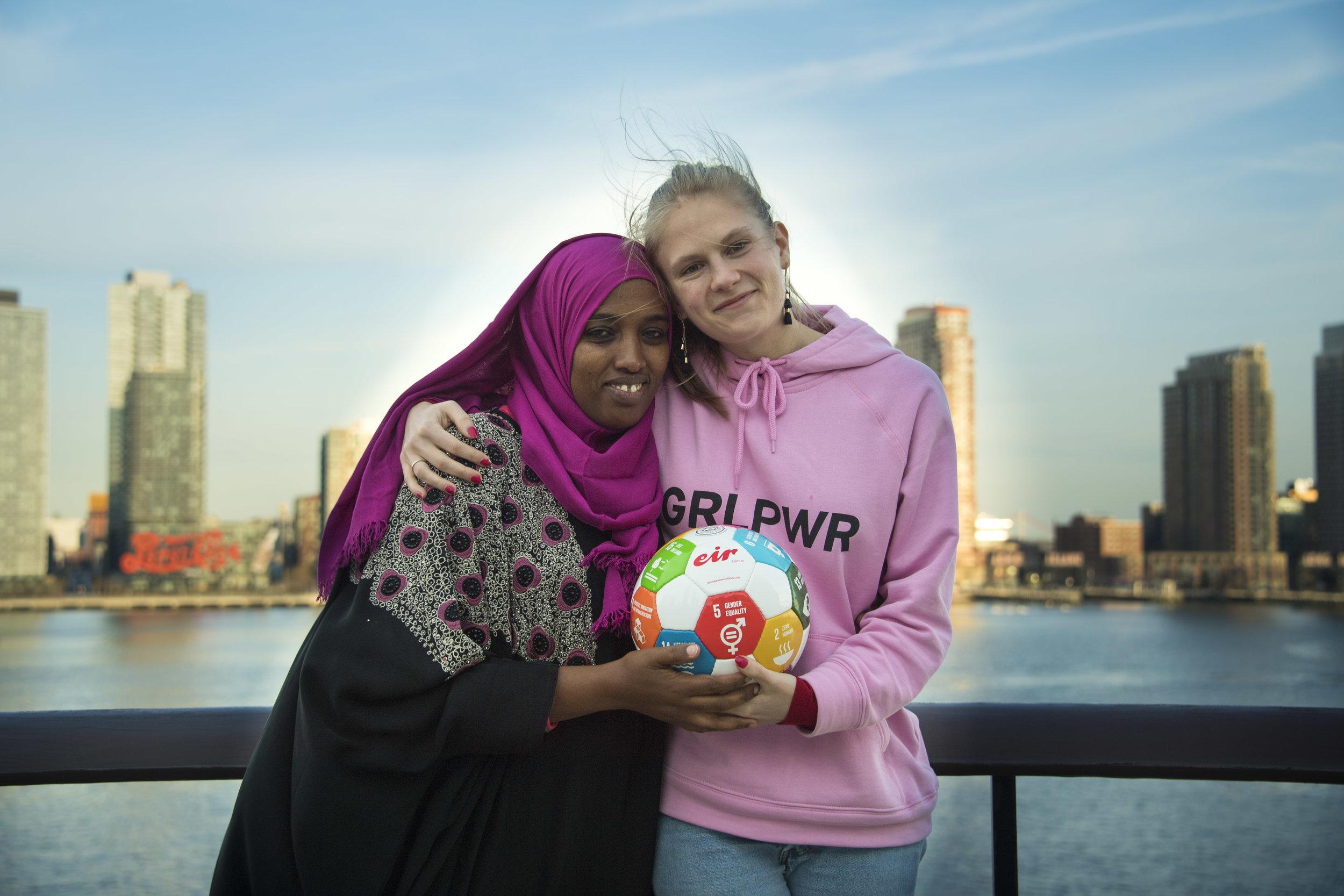 Teammates: Fatuma Abdulkadir Adan and Emma Holten (photo: Freya Morales, UNDP)