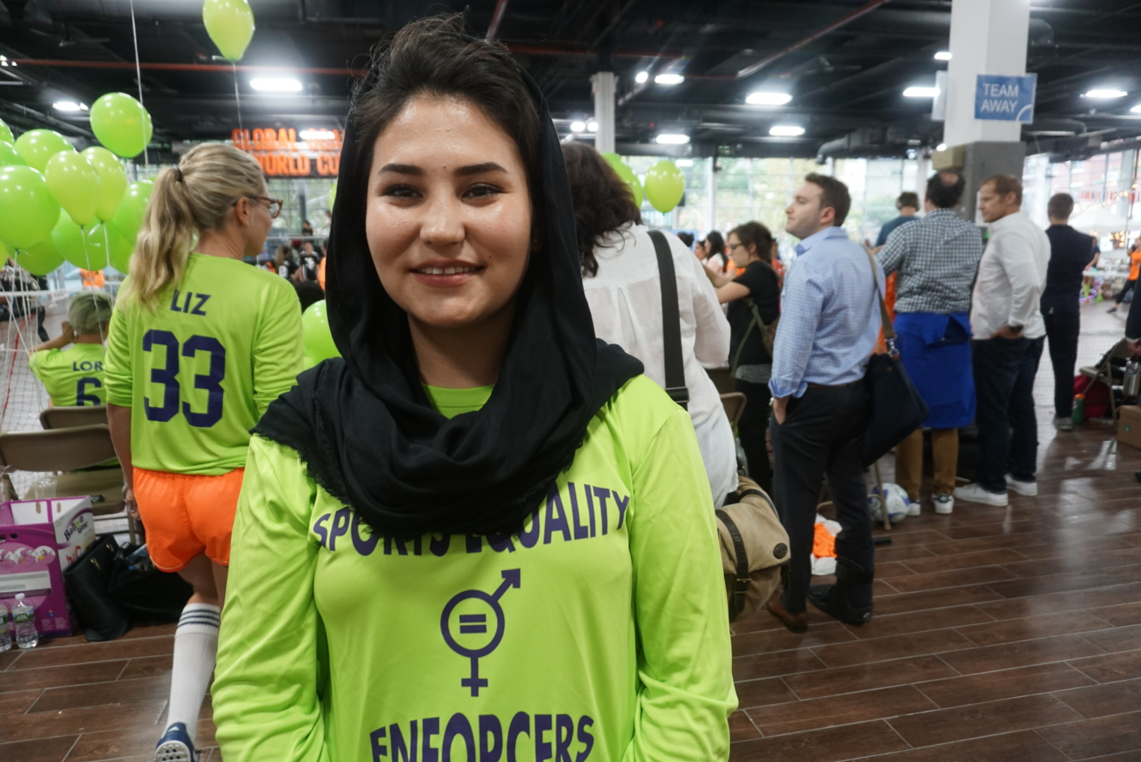 """Today we see fathers and brothers encourage their daughters or sisters enroll in a club to play football, We have the hope of a better future because football can change women's lives.""  Haja Abulfazi -Afghanistan"