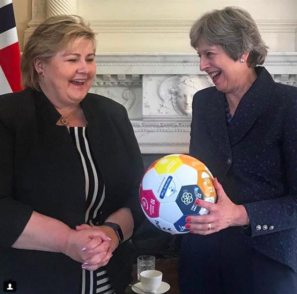 Erna Solberg with Theresa May (UK)