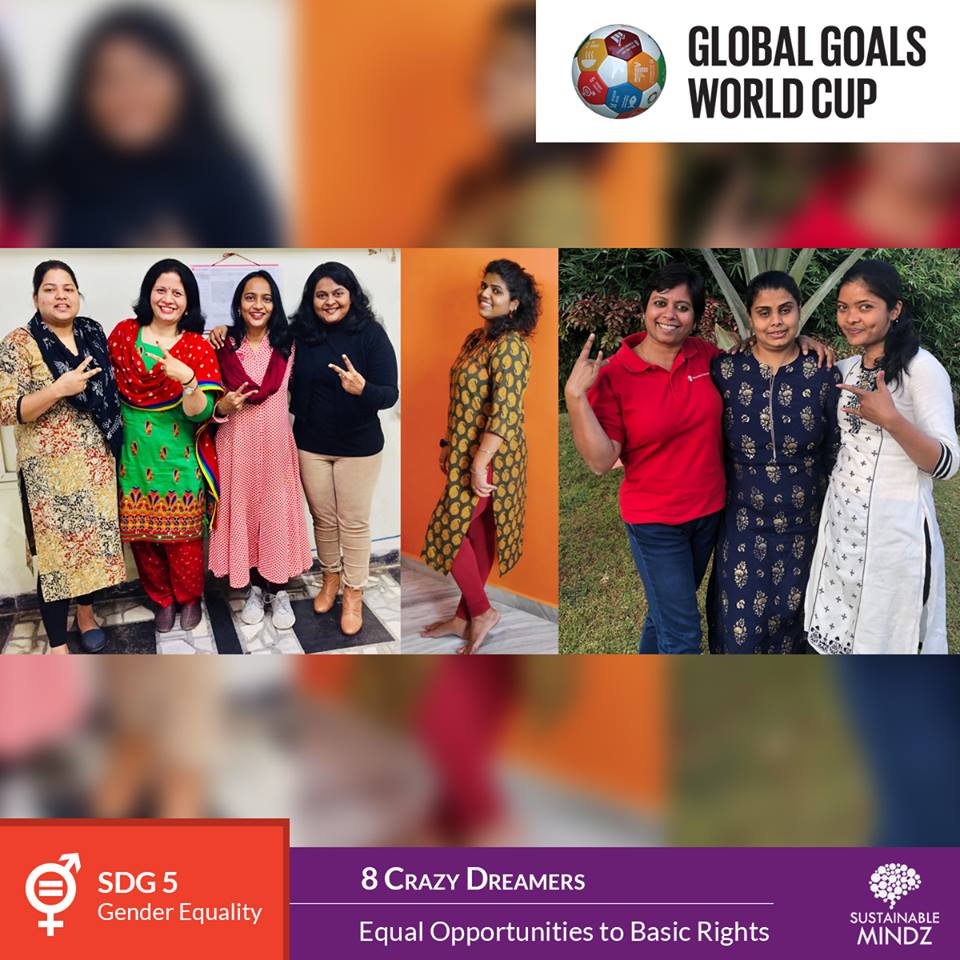 8 Crazy Dreamers,  Save the Children India , are pumped-up for the upcoming Global Goals World Cup and will be determined to win big at the biggest stage of them all. Their aim of Equal Opportunities to Basic Rights is inline with their SDG, SDG 5 - Gender Equality. Here's wishing them the best of luck for the showdown come February.