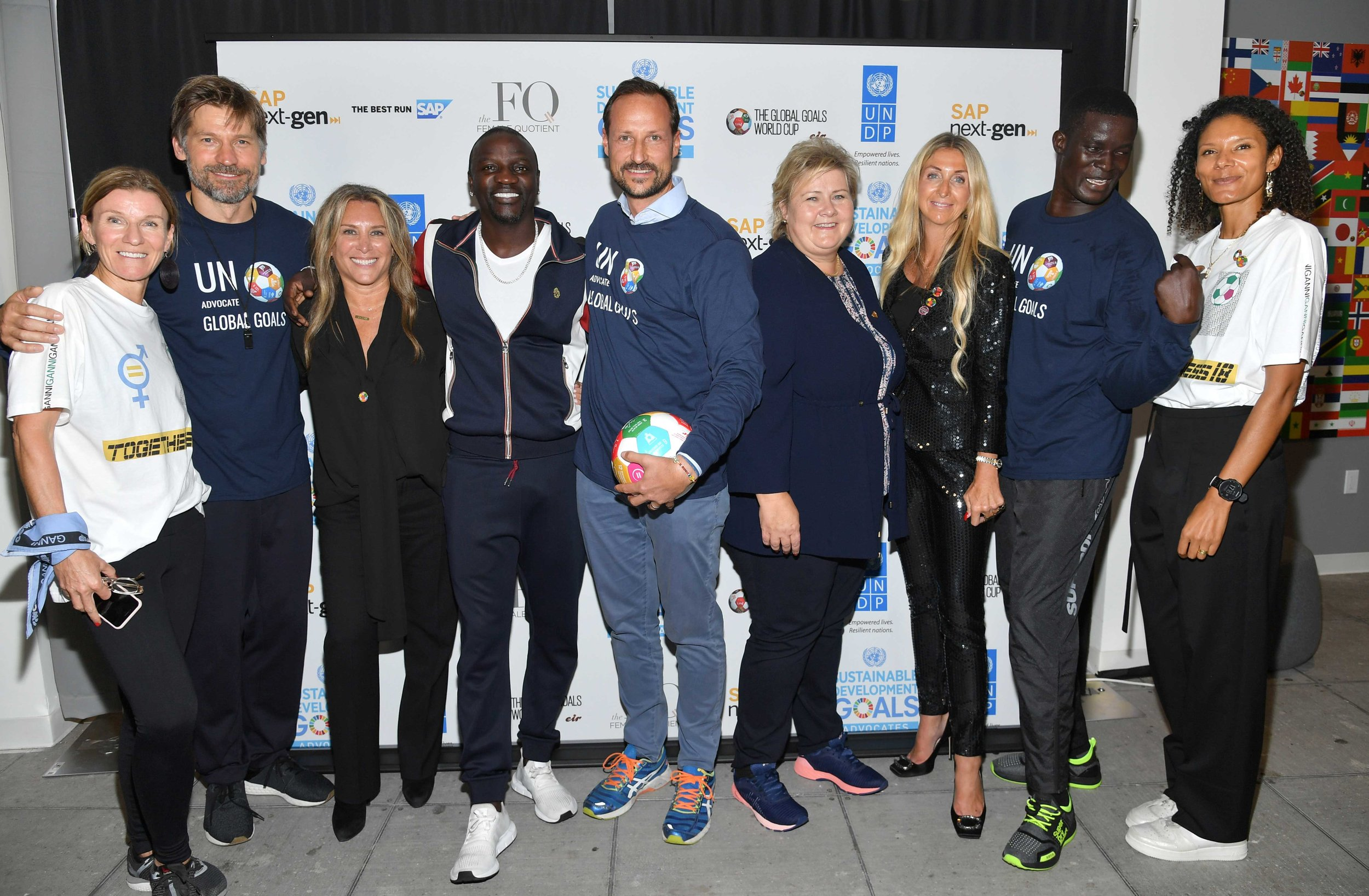 """""""Some of the goals are so big: End poverty, combate climate change. None of us can do this on our own, but all of us together can make a real difference."""" –  actor Nikolaj Coster Waldau.  Citizens Agenda partners, GGWCup Finals New York 2018. Photo © Getty -  click for download ."""