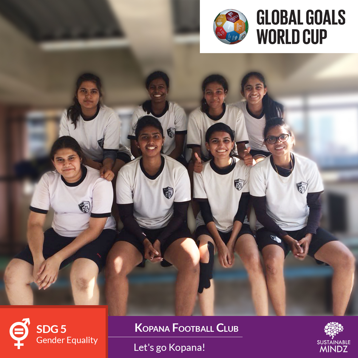 The tagline says it all 'Let's go Kopana!' The latest entrant who will be hoping to take home the accolades is  Kopana Football School . They are playing for Gender Equality and Women Empowerment and we wish them the very best for accomplishing their goals.
