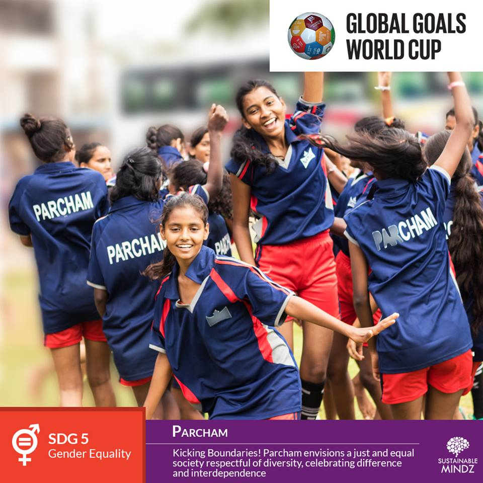 Just like their motto that says 'Kicking Boundaries', the team from  Parcham  will be looking to kick the ball into the back of the net when the Global Goals World Cup kickstarts in Mumbai at the  Fr. Agnel Multipurpose School and Junior College . With just a few days to go for the big day, here's wishing them the best for the games!