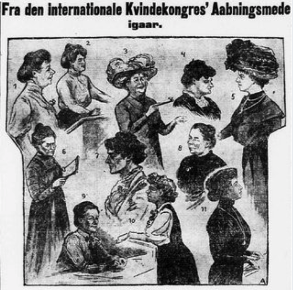 Throwback to 1910 where the idea of an International Women's Days was proposed at an International Women's Conference in Copenhagen - and in 1975 recognised by the United Nations. We still have lots to accomplish and lots to celebrate. Photo © Politiken.