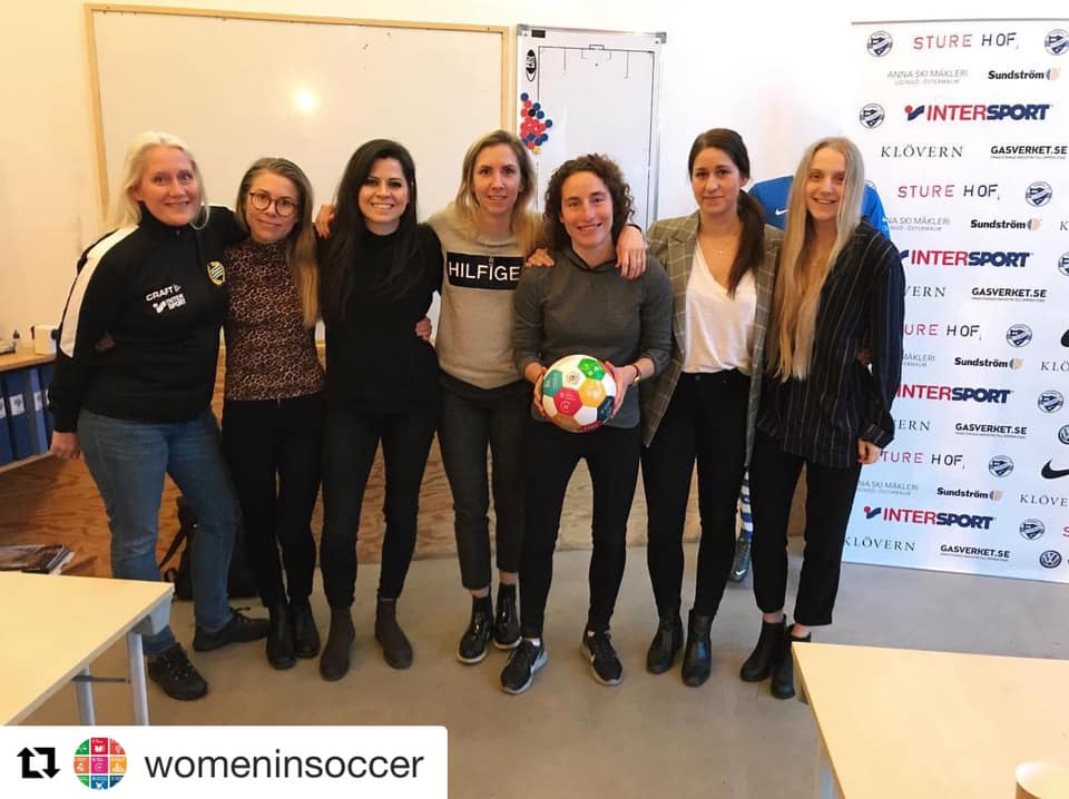 """Please follow the team on Instagram at  @womeninsoccer  and join the Facebook group """"Women in Soccer""""."""