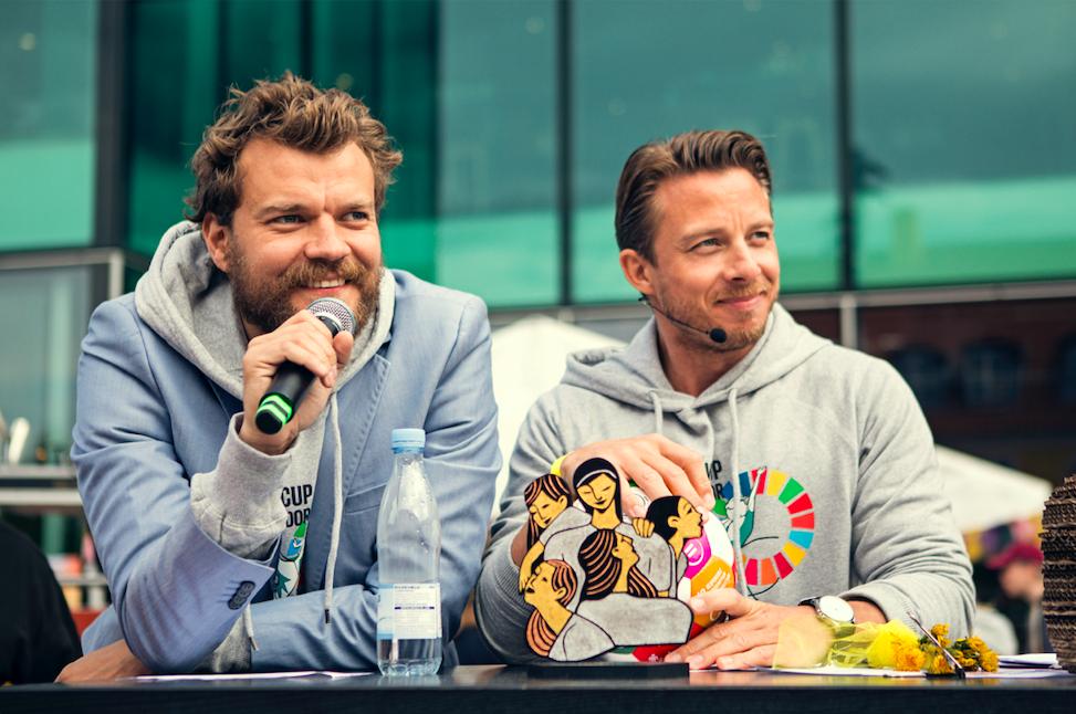 Pilou Asbæk w/ GGWCup Host Johannes Lassen