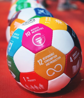 2015 The ball & UNDP - In 2015 Rikke Rønholt thought that the way to put gender equality and the Global Goals on the agenda in Denmark was through a women's football tournament.It just so happened, that Majken Gilmartin had been doing that for years!The two women met, and the idea of the Global Goals Ball and World Cup was born.MOU with UNDP to bring the Global Goals to life through football.