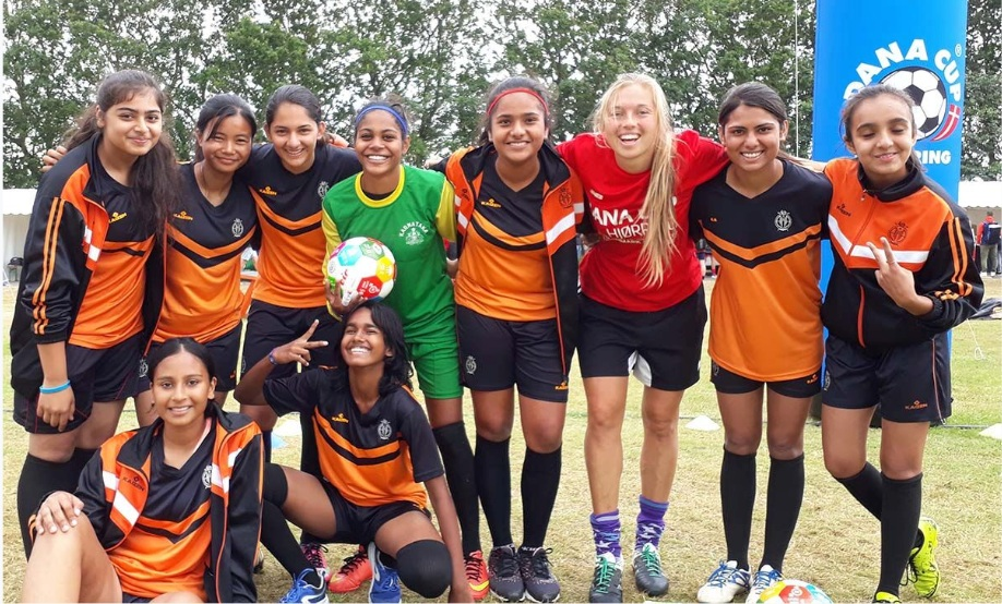 2017 Goals Impact Games - The Global Goals stand still without action. Global Goals Impact Games are about togetherness and understanding the UN 17 Global Goals by playing ball.Soccer is one of the world's most powerful tools to communicate and implement change. Through soccer we can enhance curiosity, build health, develop the mind and trust amongst each other.Global Goals Impact Games will inspire children, coaches, teachers and players to help take actions for the Global Goals locally and globally.www.ggimpactgames.com is a platform with free games and drills to teach children and playful minds about the Global Goals. Amazing Becca Todd (2nd from right) heads the effort to develop new games and trains kids at Dana Cup. Marie Hansen builds the concept and the website.MOU with Worlds Largest Lesson