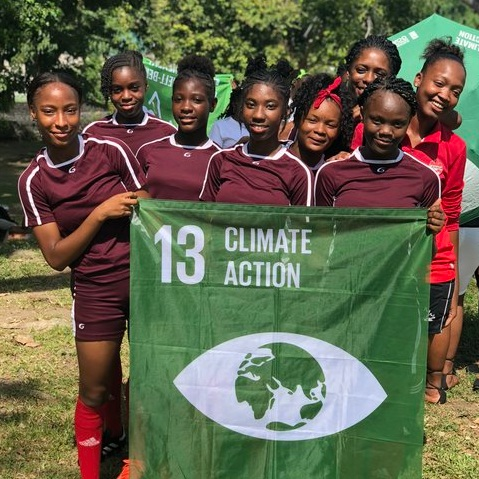 2018 GGWCup Dominica - It was a close match but Hurricane Fighters playing for Goal 13: Climate Action won the final against the Sun Beams playing for Goal 4 Quality Education after a nerve-racking penalty shoot-out. Thank you to all the teams, players, volunteers, sponsors, partners and all you who game out and cheered! Truly a memorable day in the Botanical Garden.