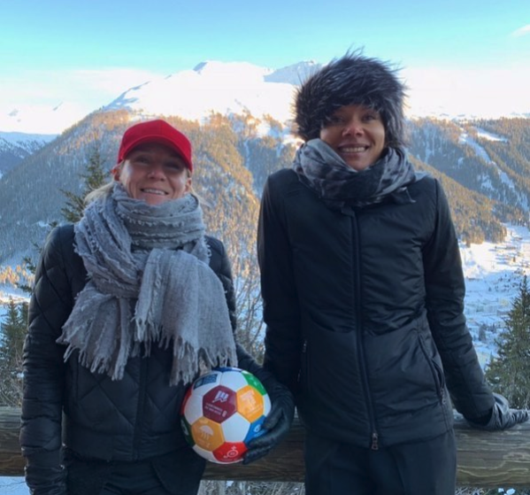 2019 World Economic Forum and Goals House in Davos - Warm greeting from Davos.Let's go play for the world. We Are Ready!