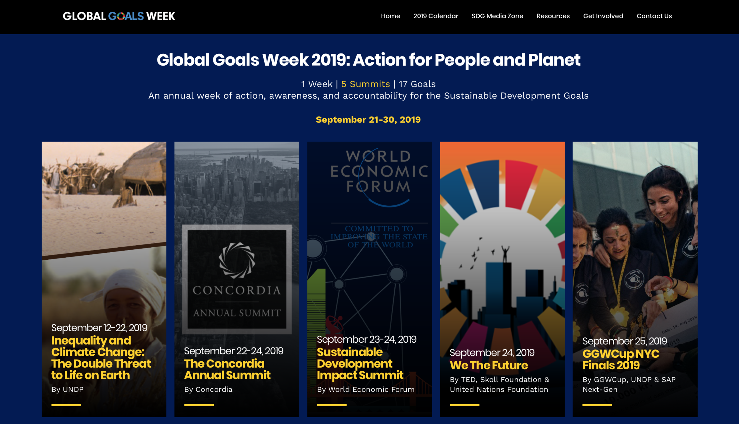Global Goals Week 2019 - 1 Week | 5 Summits | 17 Goals - Again this year we are proud to be part of the biggest week of the year: The Global Goals week in NYC to build momentum to achieve the SDGs.