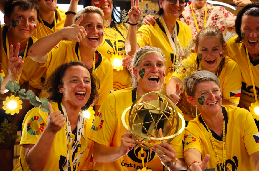 GGWCup NYC Finals 2019 - Overall Champion: Yellow Ladies from the Czech Post playing for Good Health & Well-being, Global Goal 3Action Champion: Forca Goa from India. Playing for Good Health & Well-being, Gender Equality, Responsible Production & Consumption, Global Goals 3 + 5 + 12Style Champions: Goleadoras from NYC playing for Gender Equality, Global Goal 5Runner up: Greens from Saudi Arabia playing for Life On Land, Global Goal 15