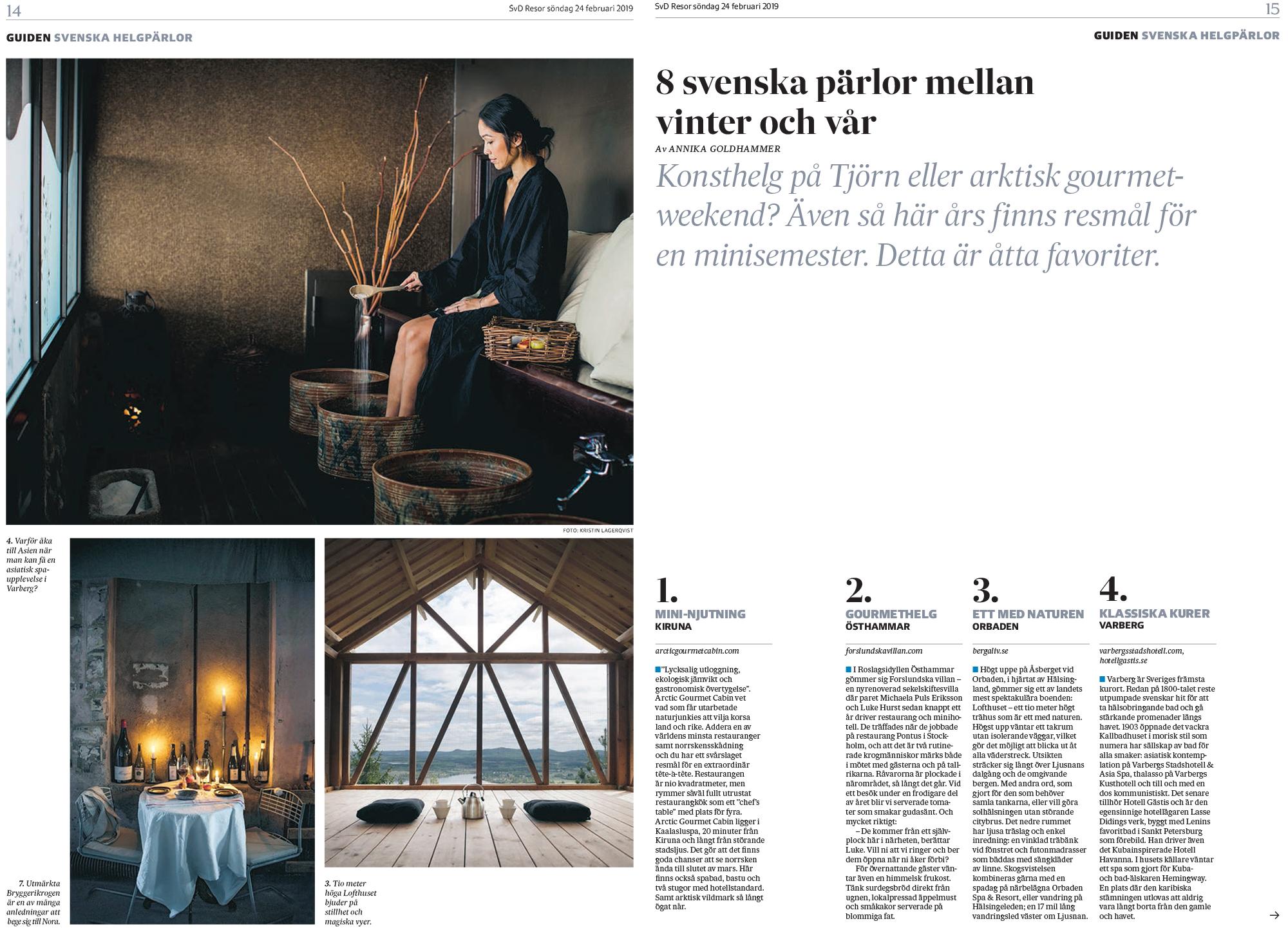 Off season-guide – Svenska Dagbladet
