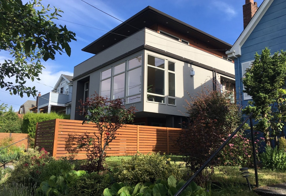 At 3,180 square feet, this 2016 Ballard home could not be built in a single-family zone, under proposed new rules capping home sizes in Seattle.  KUOW PHOTO/JOSHUA MCNICHOLS