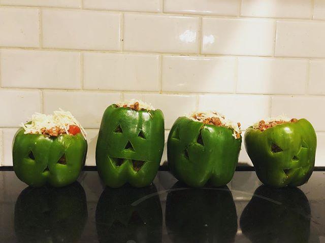 Happy Halloween! #greenpepperpumpkins