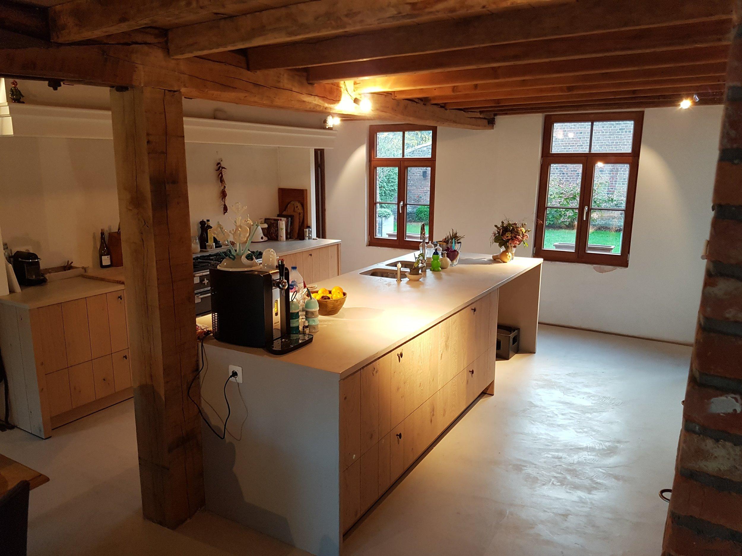 keuken mortex beton ciré microtopping