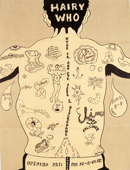 Hairy Who exhibition poster, 1967