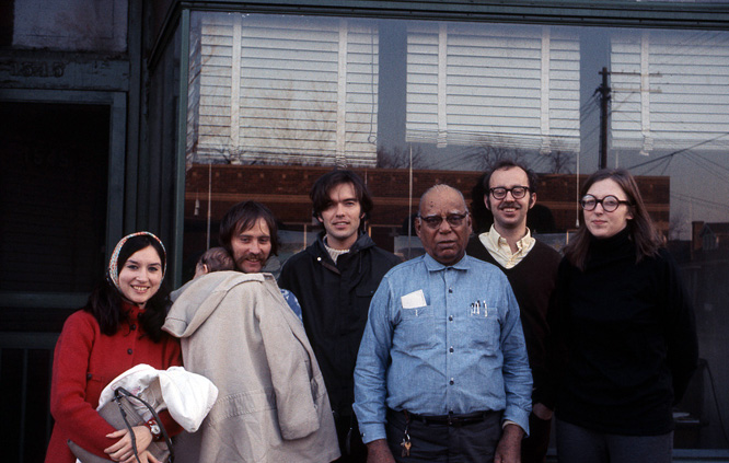 L-R: Lorri Gunn, Karl Wirsum, Roger Brown, Joseph Yoakum, Philip Hanson, Christina Ramberg (Photo by Whitney Halstead)