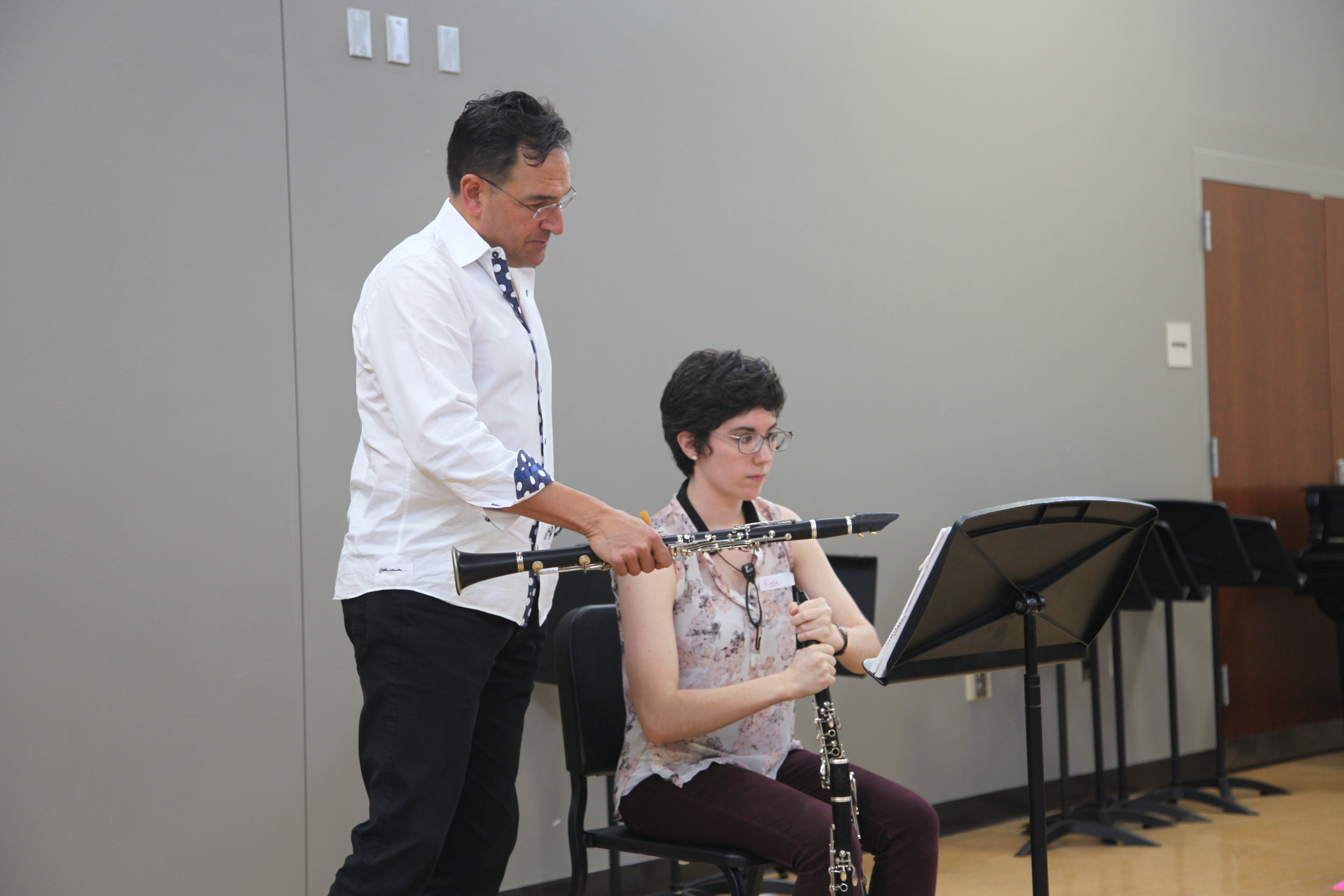 Mark Nuccio works with student Rosemary Bullock - MiniFest 2018
