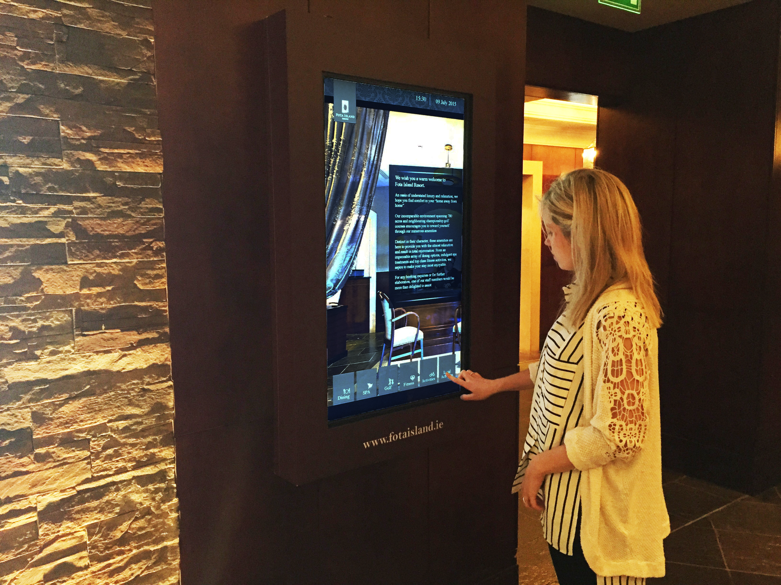 Fota Island Hotel Touch Interface