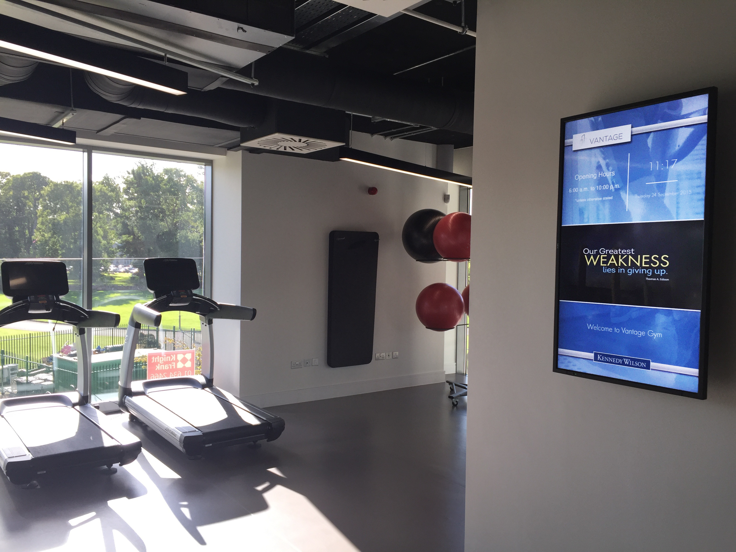 Gym Information Screen