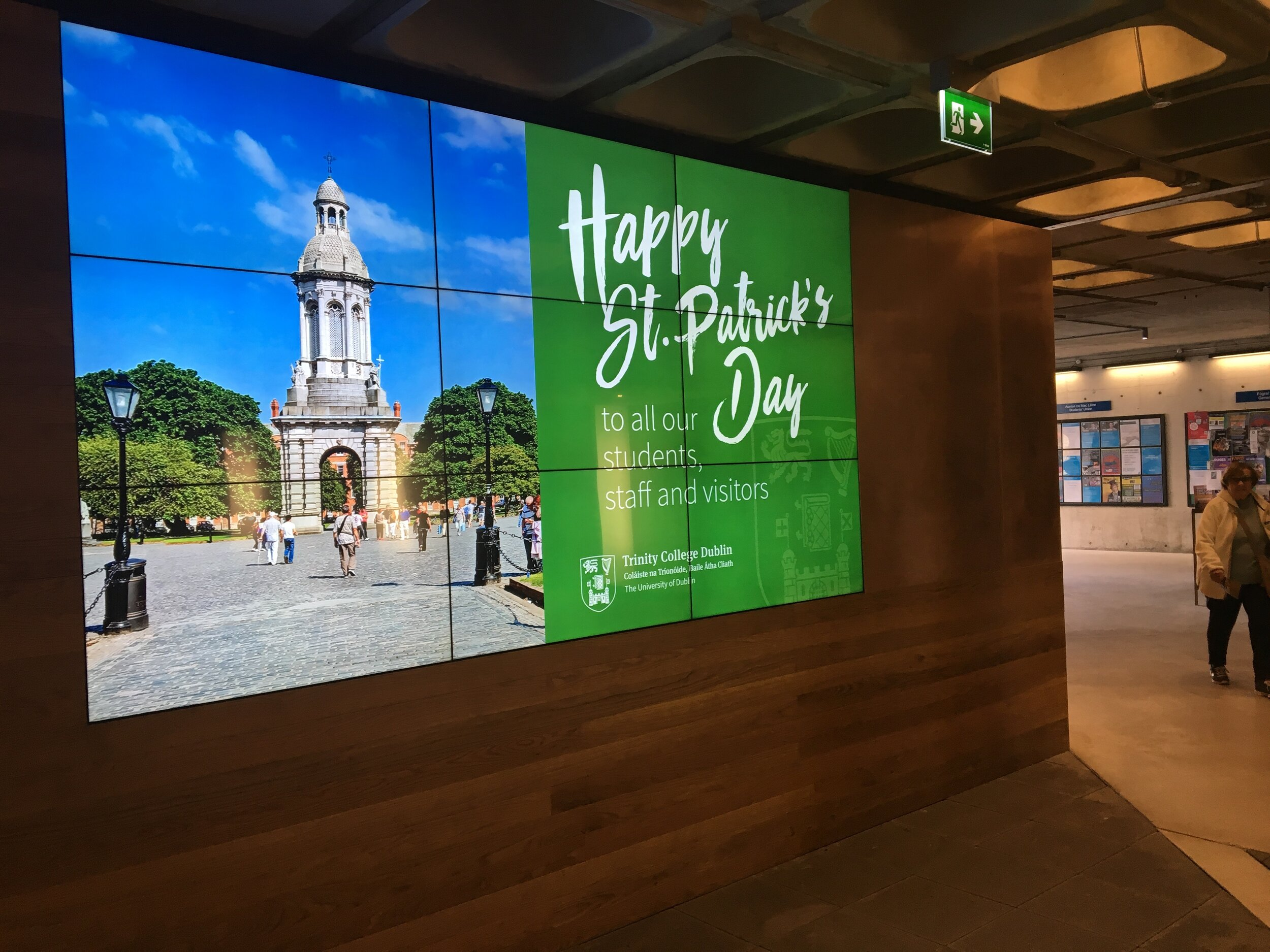 Trinity College Dublin Video Wall