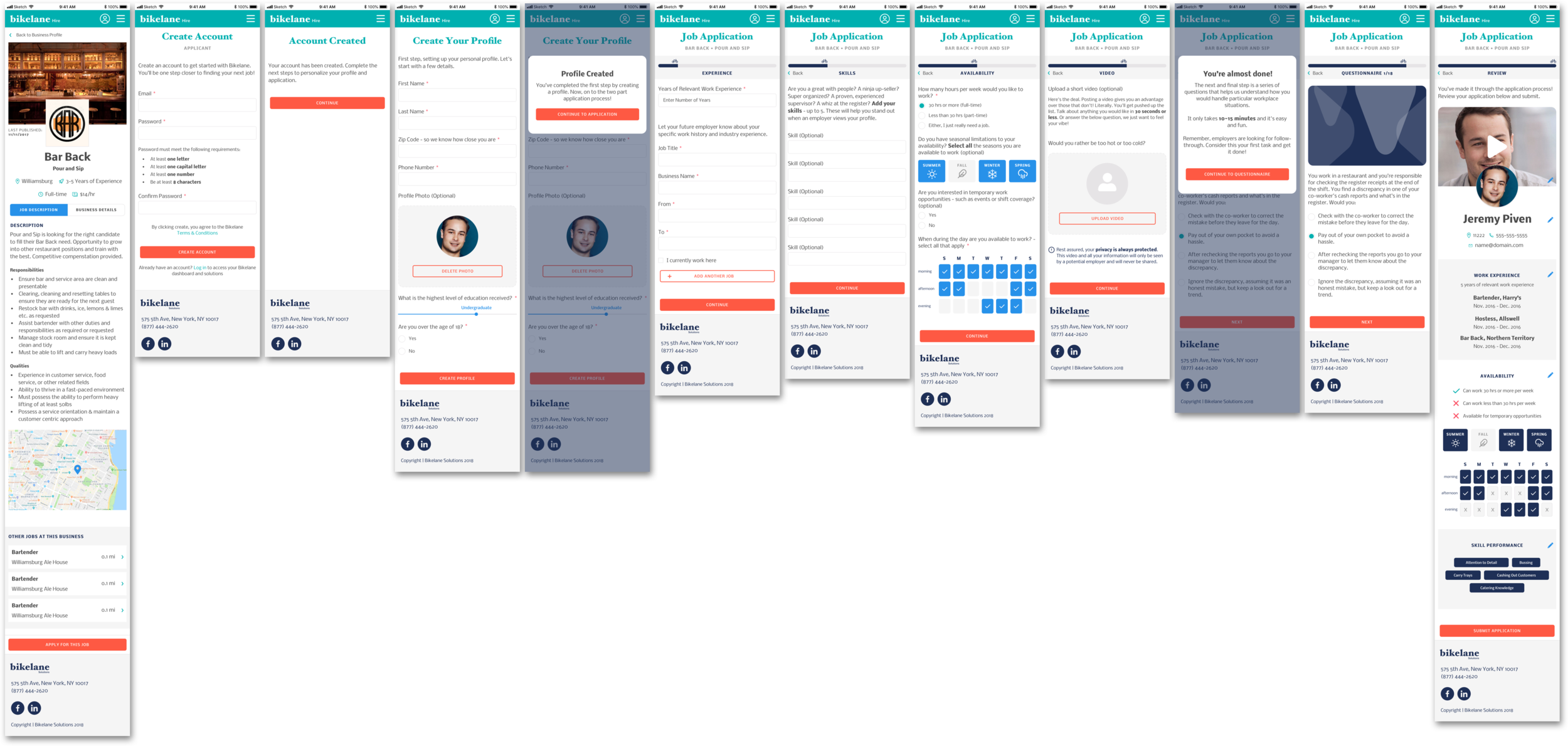 MOBILE EXPERIENCE OF THE JOB APPLICATION PROCESS