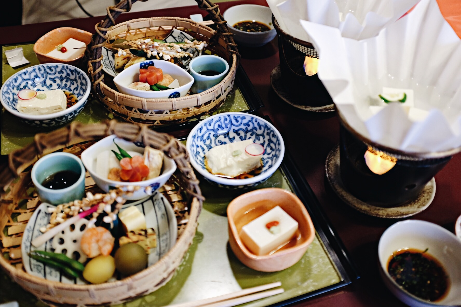 Beautiful Kaiseki Cuisine in Kyoto.