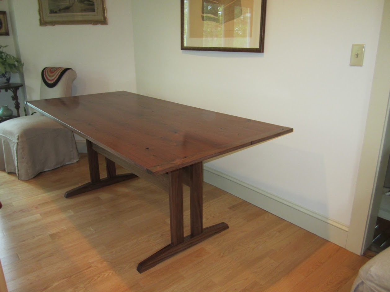trestle table - reclaimed walnut, walnut.JPG