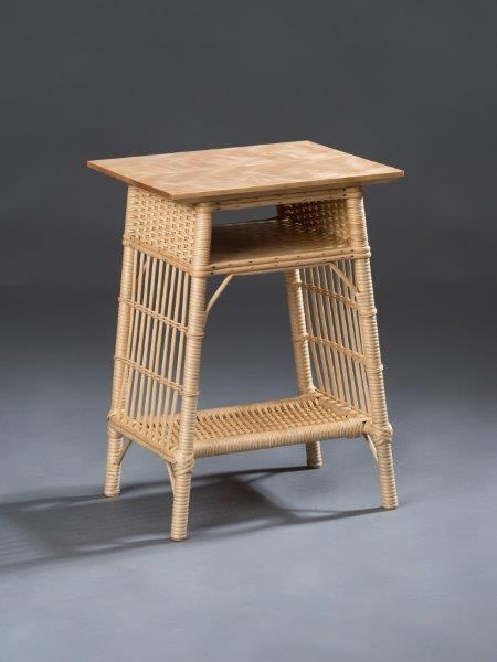 Rattan reed and Birch Table