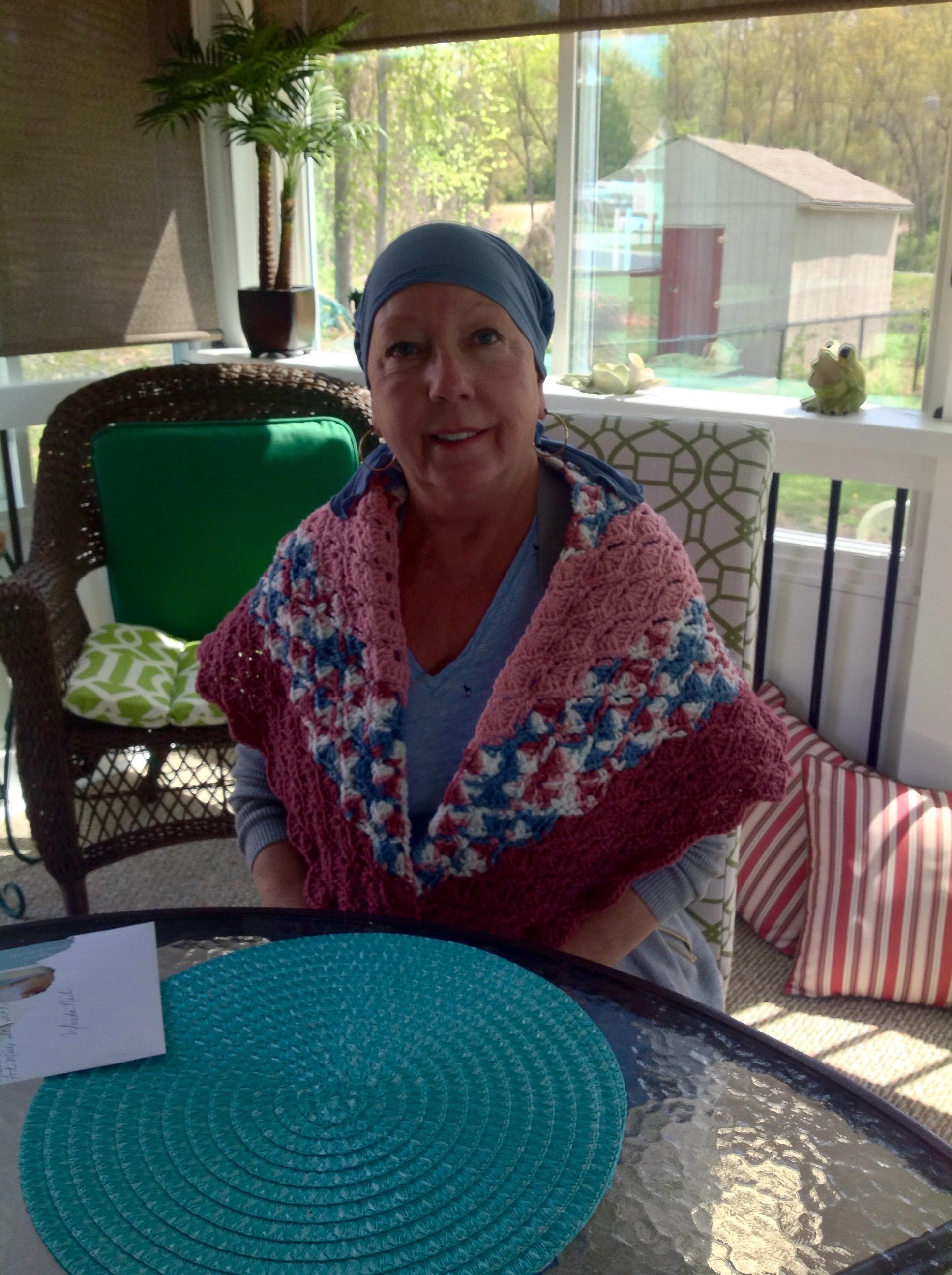 Wanda Neil with her prayer shawl