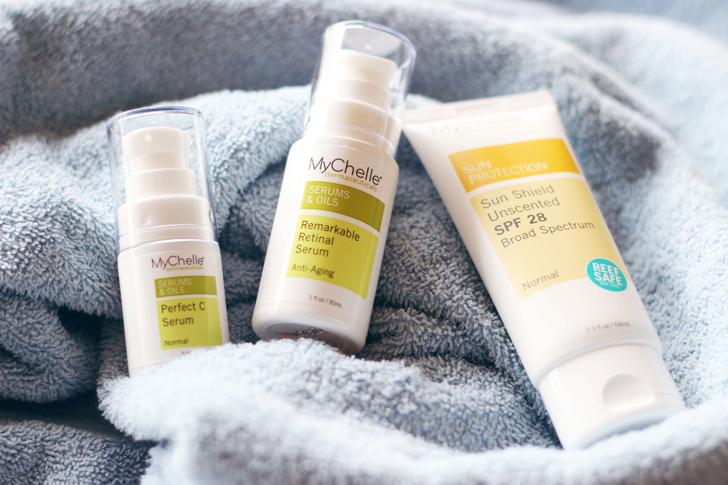 MyChelle Dermaceuticals skincare set AND $25 Fresh Thyme Farmers Market gift card giveaway!