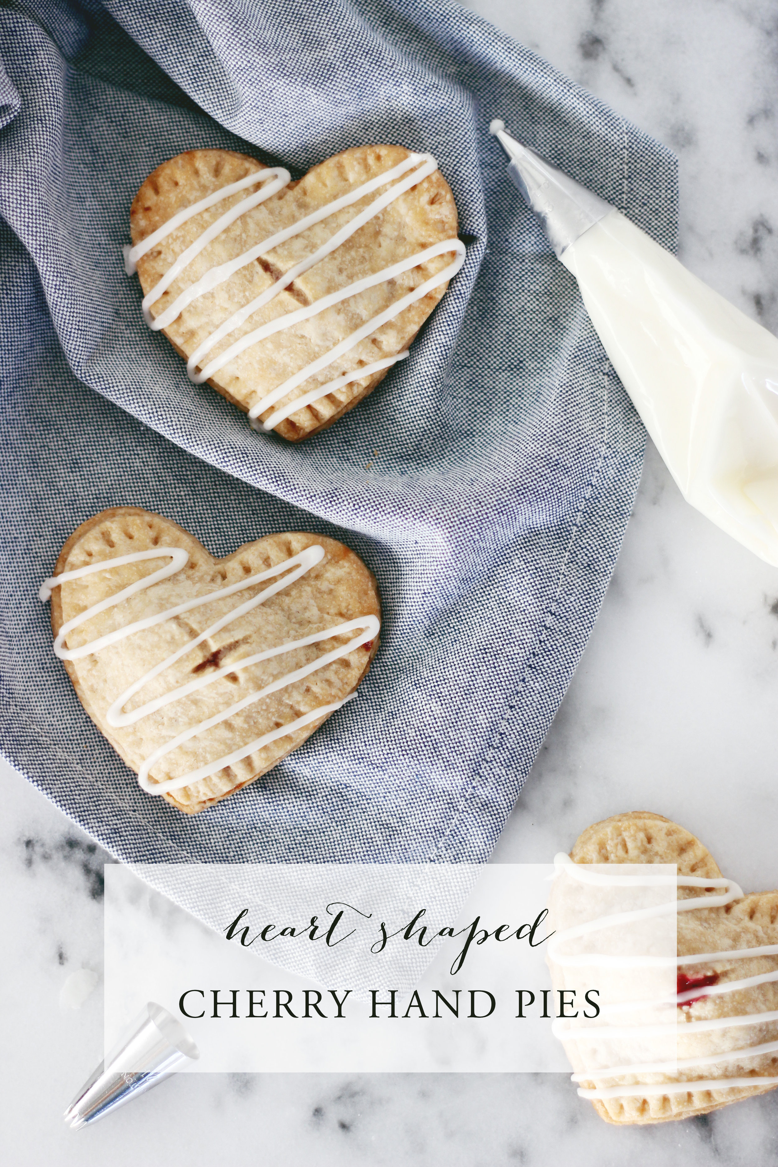 Yummy VEGAN cherry heart hand pies! Perfect quick and easy dessert for Valentine's Day!
