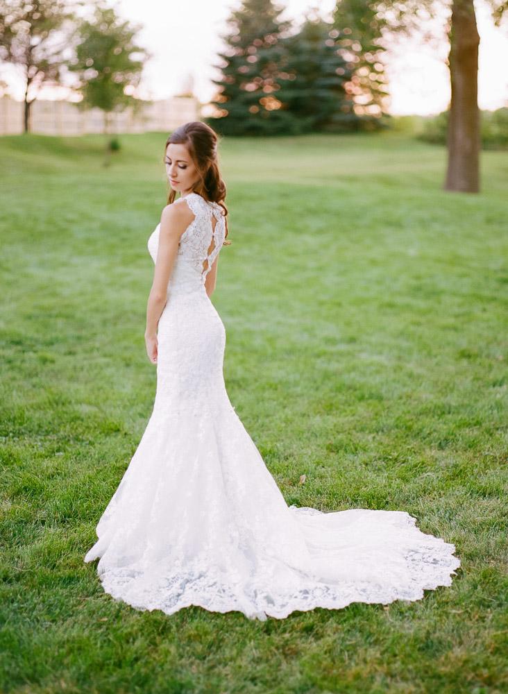 Allure Bridals Wedding Dress | Back lace detail