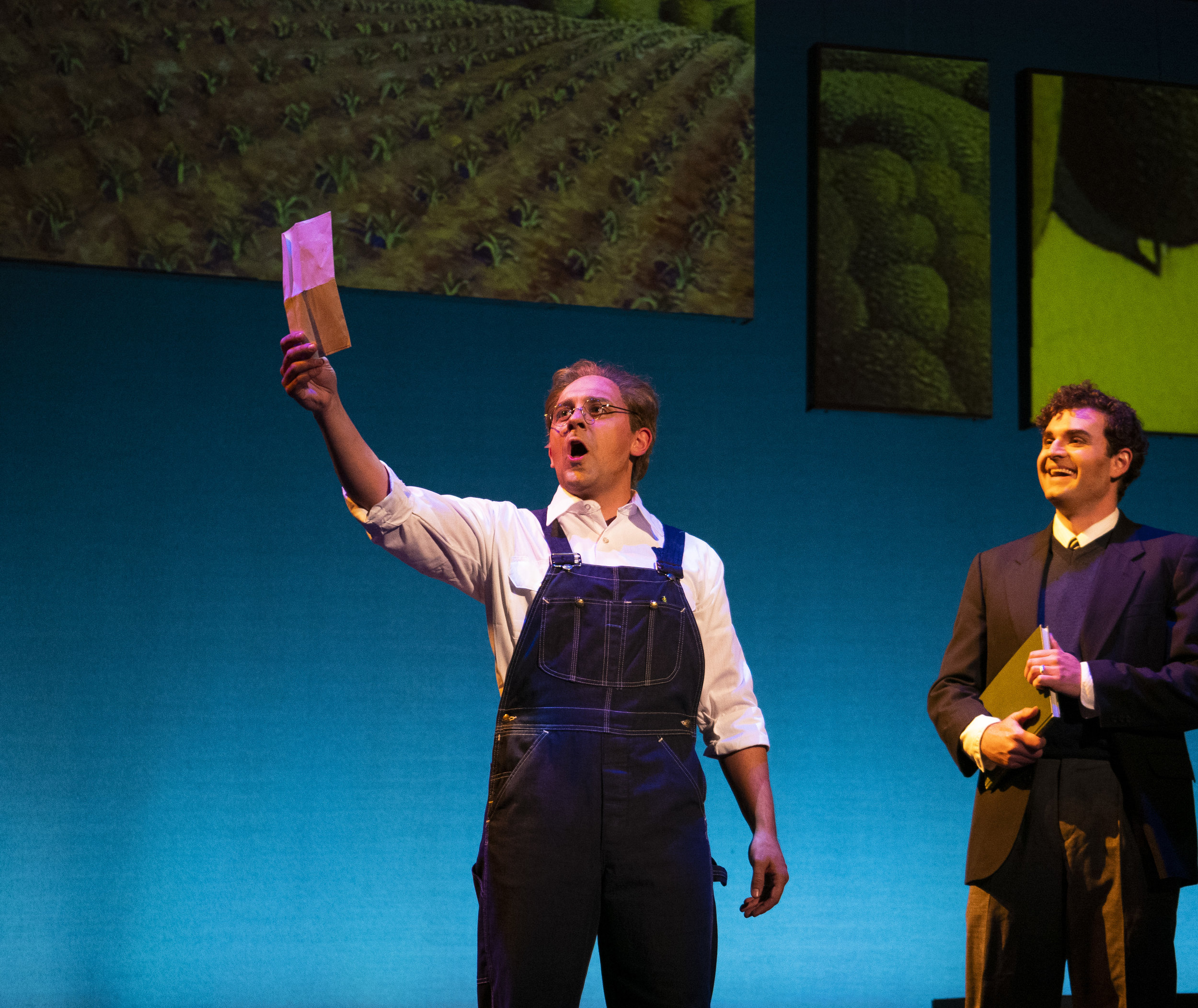 Grant Wood in  Strokes of Genius: The Grant Wood Operas  ; credit - Taylor Fiser Photography