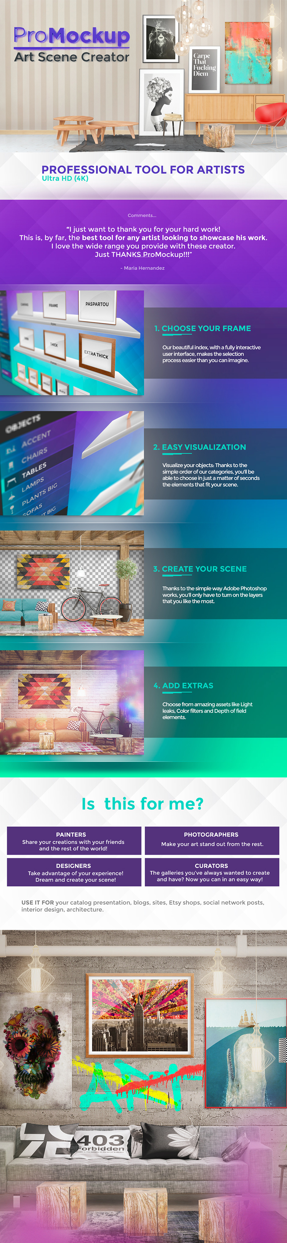 Pro Mockup psd for artists - Ultra HD (4K)