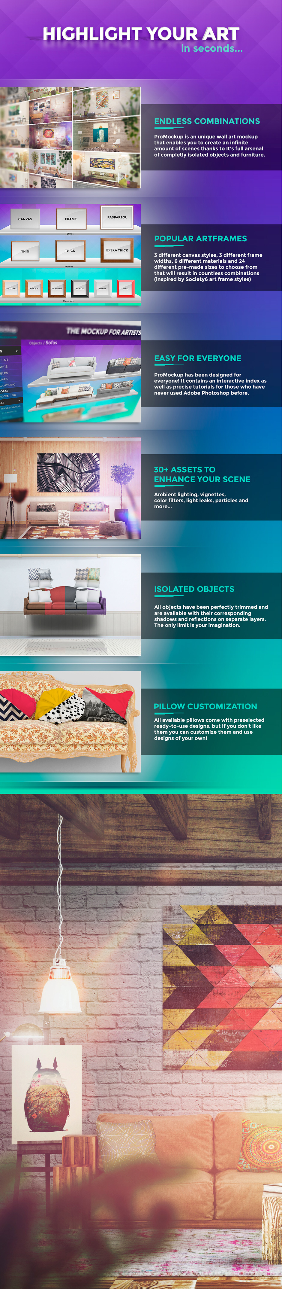 Pro Mockup - Art Scene Creator / Endless combinations