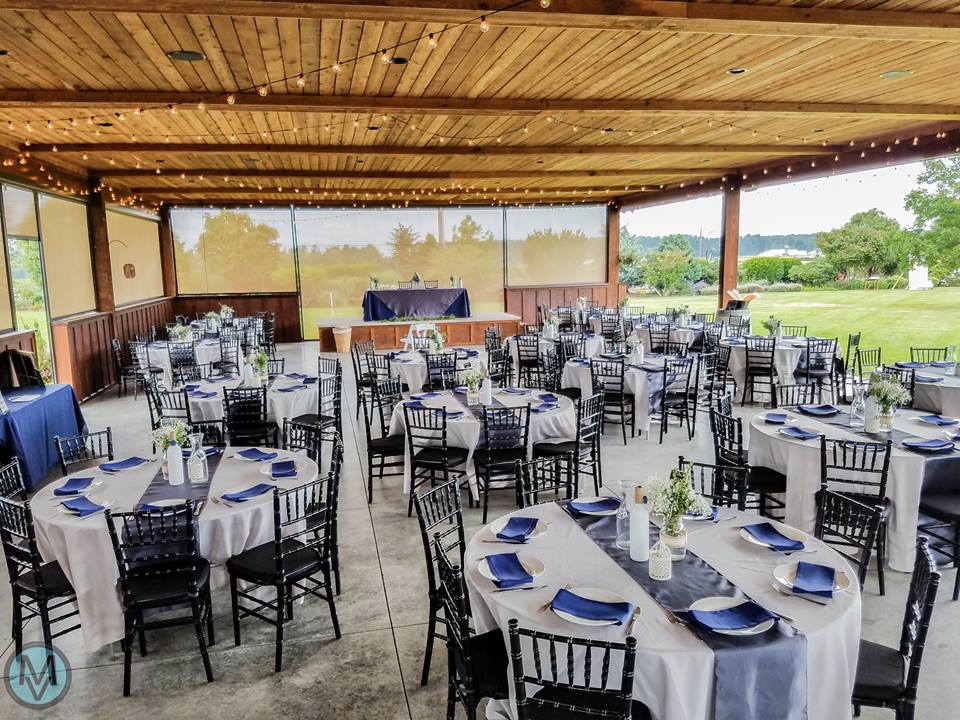Featuring an elegant 80'x40' event pavilion - Flexible and versatile, our event venue can accomodate up to 300 guests, and has caterer staging areas, sound system, restrooms, dressing rooms, and ample parking which make events a breeze.