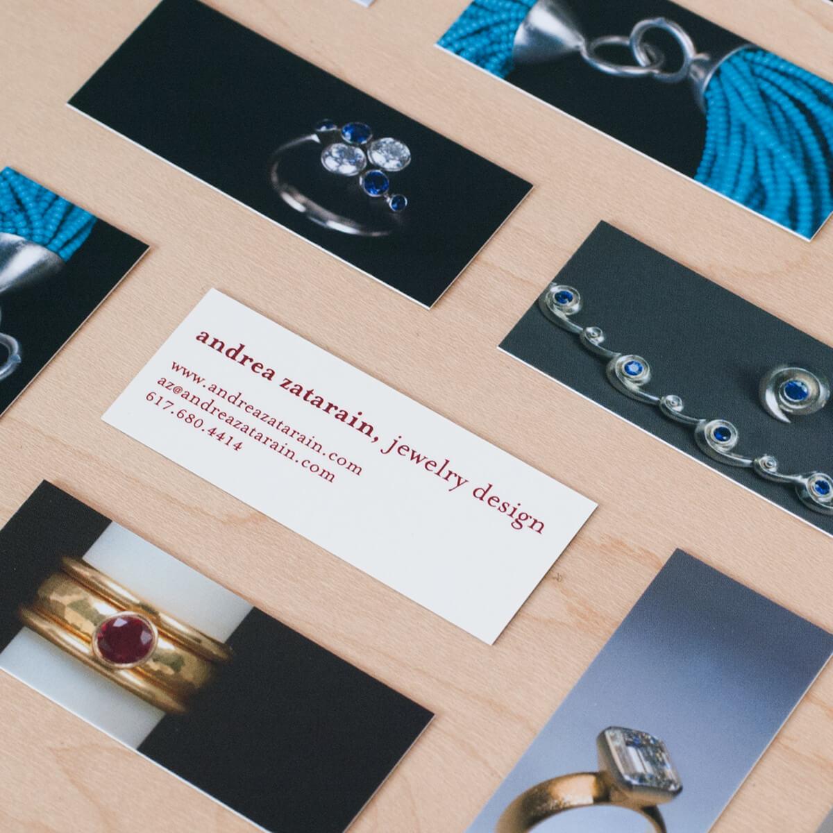 Mini business cards for Andrea Zatarain   Design by  ChrisAndAndy.com