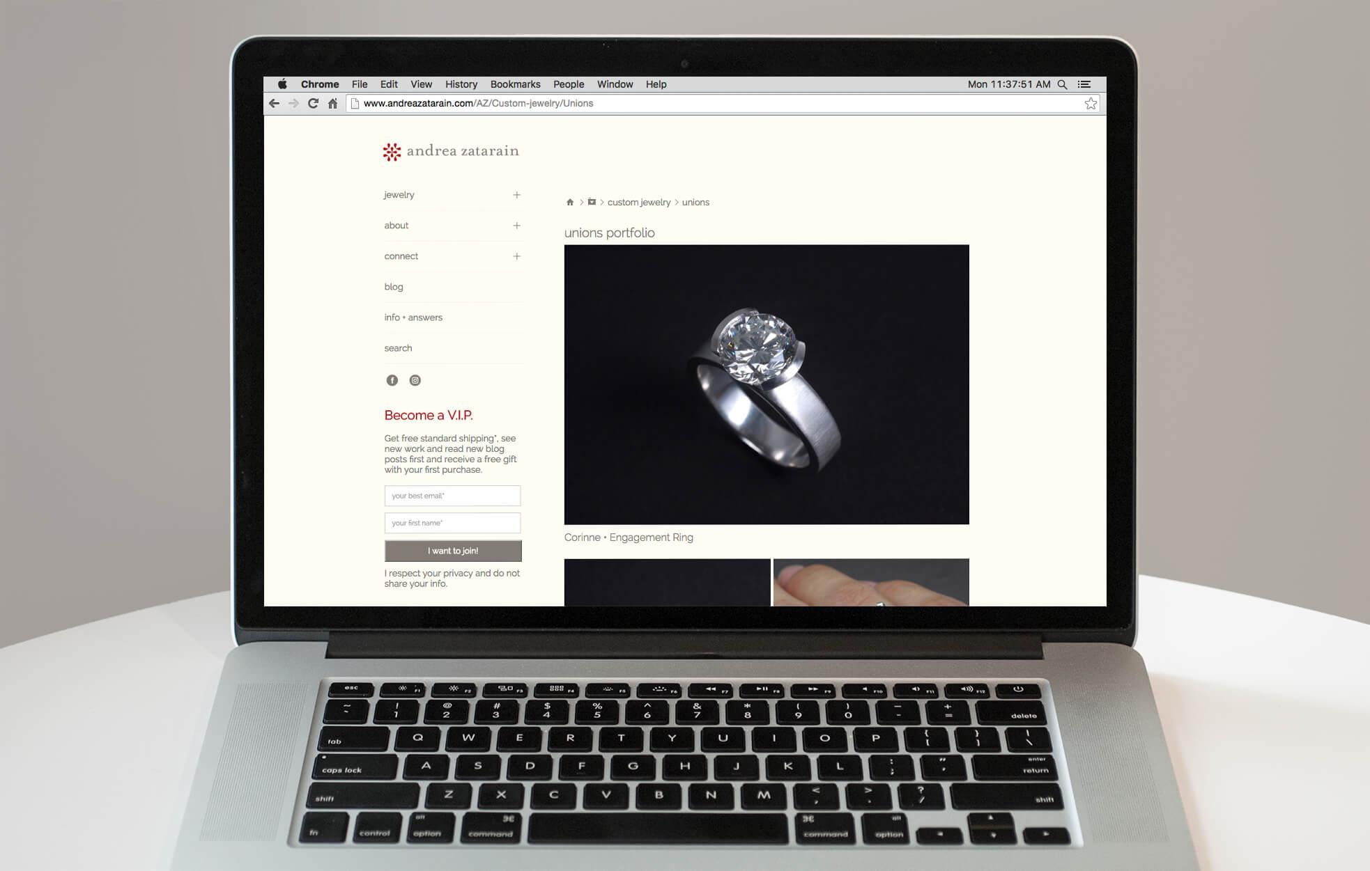 Website design for Andrea Zatarain | Design by  ChrisAndAndy.com