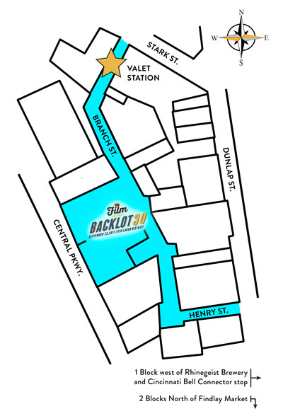 Backlot 30 will take place in the industrial back alleys of Cincinnati's Over The Rhine District