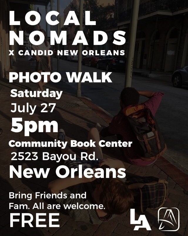 Candid New Orleans Photo Walk - for Photographers and the Instagrammers who love them 📷Content collab & group photo shoot with Local Nomads5 p.m. Saturday, July 27Bayou Road, New Orleans