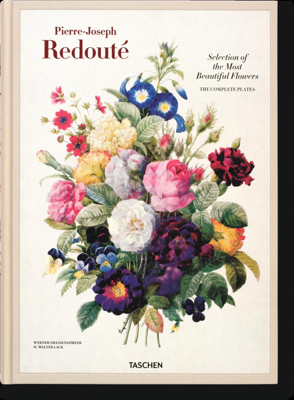 Livre de Pierre-Joseph Redouté,  Le choix des plus belles fleurs.  Sélection Jeanne Holsteyn