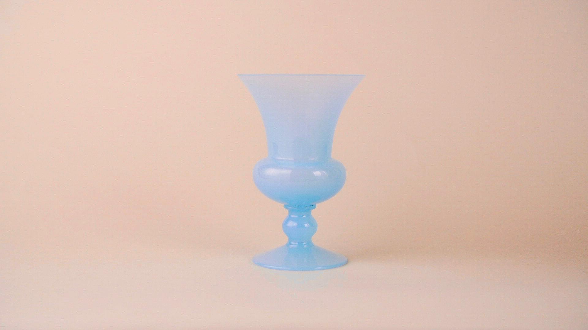 Blue Opaline Vase,  La Bouche