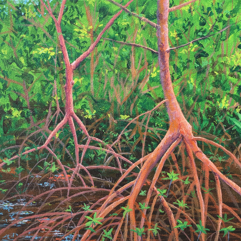 """""""Weedon Island Hike"""" Acrylic on canvas"""