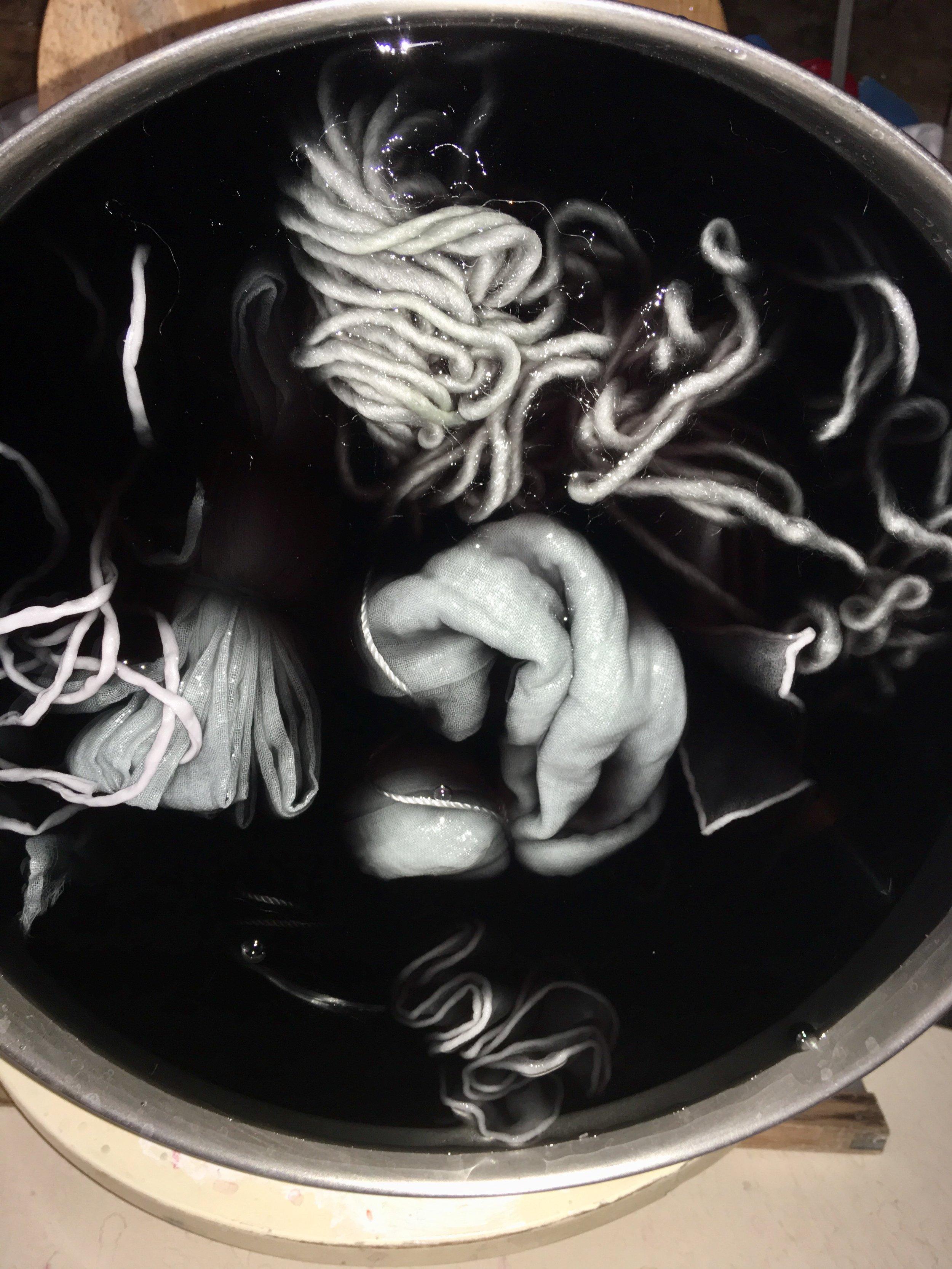 Exhausting the Dye bath