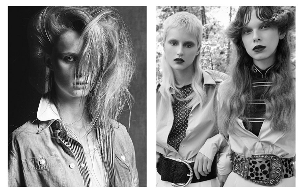 Left: Vogue Netherlands with Rianne van Rompaey - Right: Vogue Italia  Performers  with Giedre Seks and Litay Marcus